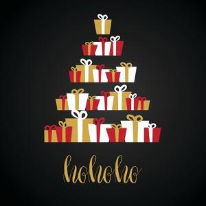 Under Abstract Christmas Tree Made from Gift Boxes . Christmas Boxes, Christmas Presents, Christmas by mcherevan