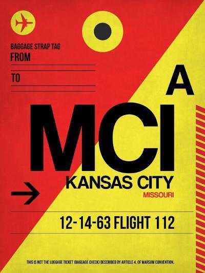 MCI Kansas City Luggage tag I-NaxArt-Art Print
