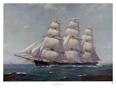 McKay Racer, Sovereign of the Seas-Frank Vining Smith-Art Print