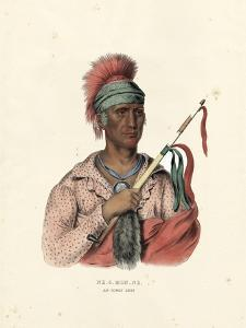 An Ioway Chief by McKenney & Hall