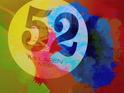 Mclaren Watercolor-NaxArt-Art Print