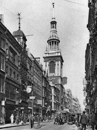 The Spire of Bow Church, London, 1926-1927 by McLeish
