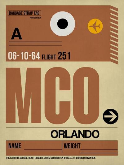 MCO Orlando Luggage Tag I-NaxArt-Art Print