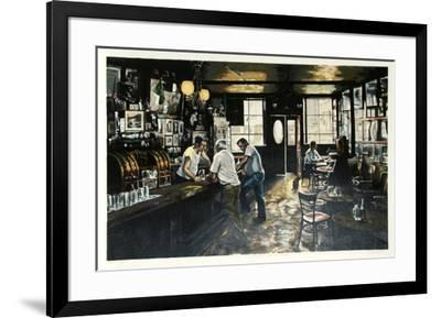McSorley's Old Ale House-Harry McCormick-Framed Collectable Print