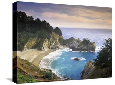 McWay Cove and McWay Falls, Julia Pfieffer-Burns State Park, California-Tim Fitzharris-Stretched Canvas Print