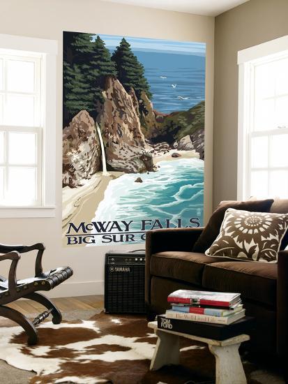 McWay Falls - Big Sur Coast, California-Lantern Press-Wall Mural