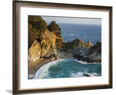 Mcway Falls, Mcway Cove, Julia Pfeiffer Burns State Park, California, Usa-Rainer Mirau-Framed Photographic Print