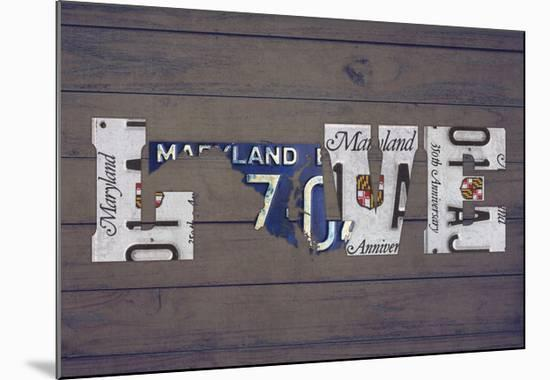 MD State Love-Design Turnpike-Mounted Giclee Print