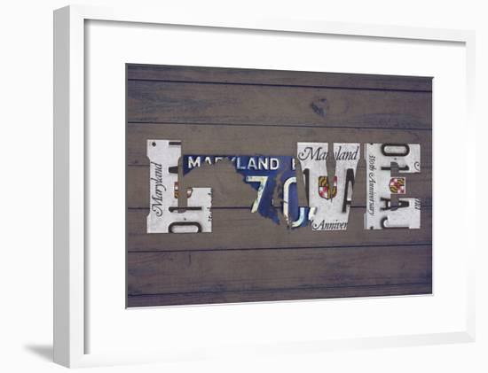 MD State Love-Design Turnpike-Framed Giclee Print