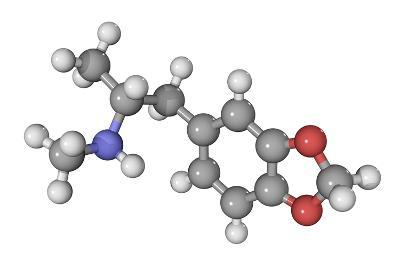 MDMA Drug Molecule-Laguna Design-Photographic Print