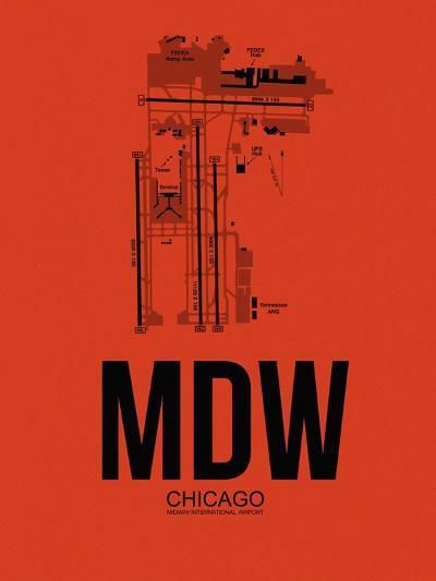 MDW Chicago Airport Orange-NaxArt-Art Print
