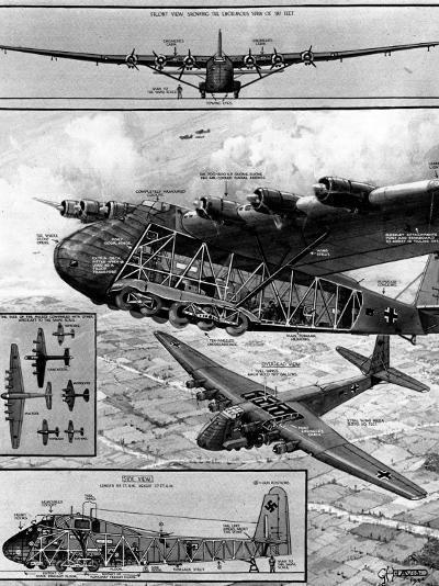 Me.323 'Gigant' Transport Glider; Second World War, 1944--Photographic Print