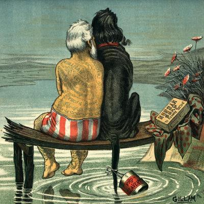 Me and Jack Published in Puck Magazine 1884-Bernard Gillam-Giclee Print
