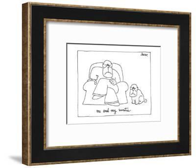 ME AND MY SWEETIE. - New Yorker Cartoon-Jack Ziegler-Framed Premium Giclee Print