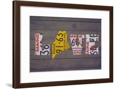 ME State Love-Design Turnpike-Framed Giclee Print