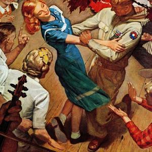 """Barn dance,"" November 25, 1944 by Mead Schaeffer"