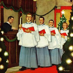 """Boys Christmas Choir"", December 26, 1953 by Mead Schaeffer"