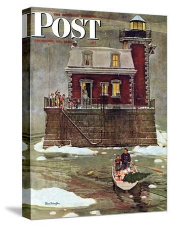 """Christmas at the Lighthouse,"" Saturday Evening Post Cover, December 28, 1946"