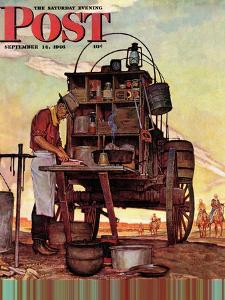 """Chuckwagon,"" Saturday Evening Post Cover, September 14, 1946 by Mead Schaeffer"