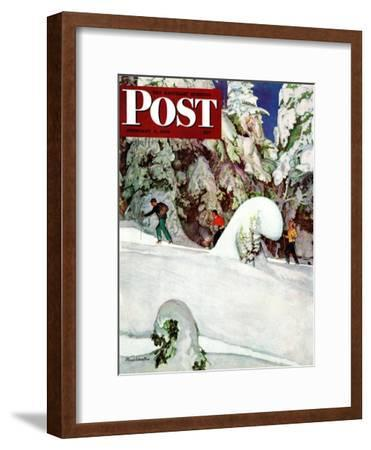 """""""Cross Country Skiers,"""" Saturday Evening Post Cover, February 2, 1946"""