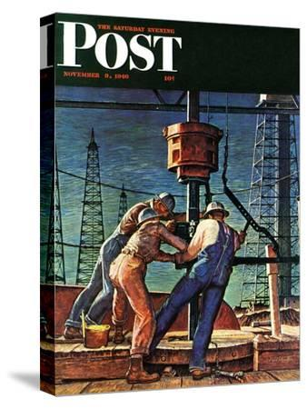 """Drilling for Oil,"" Saturday Evening Post Cover, November 9, 1946"