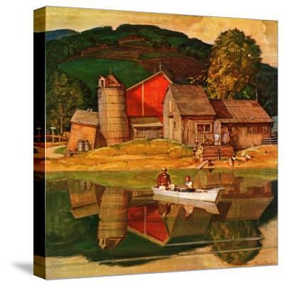 """""""Farm Pond Landscape,"""" July 28, 1945"""