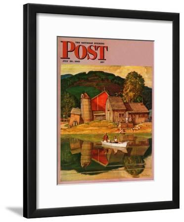 """Farm Pond Landscape,"" Saturday Evening Post Cover, July 28, 1945"