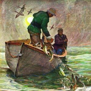 """Fishing with Nets,"" May 28, 1949 by Mead Schaeffer"