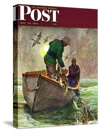 """""""Fishing with Nets,"""" Saturday Evening Post Cover, May 28, 1949"""