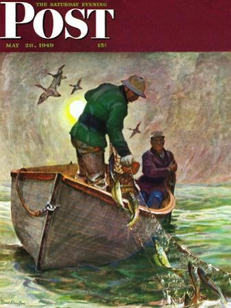 """""""Fishing with Nets,"""" Saturday Evening Post Cover, May 28, 1949 by Mead Schaeffer"""