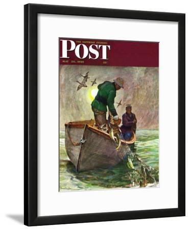 """Fishing with Nets,"" Saturday Evening Post Cover, May 28, 1949"