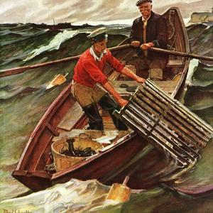 """""""Lobstermen,"""" March 9, 1946 by Mead Schaeffer"""