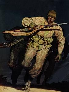 """Night Attack,"" February 20, 1943 by Mead Schaeffer"