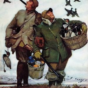 """Nothing but Decoys"", December 1, 1951 by Mead Schaeffer"