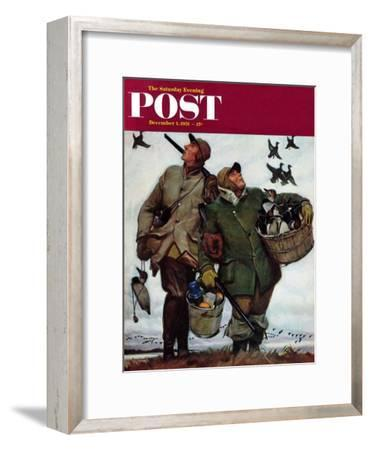 """Nothing but Decoys"" Saturday Evening Post Cover, December 1, 1951"