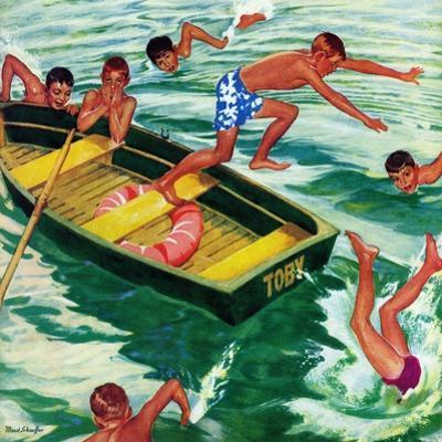 """Rowboat Diving"", July 12, 1952"