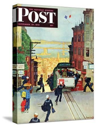 """San Francisco Cable Car,"" Saturday Evening Post Cover, September 29, 1945"