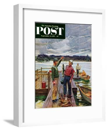 """Showing Off the Big One"" Saturday Evening Post Cover, September 15, 1951"