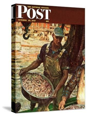 """""""Shrimpers,"""" Saturday Evening Post Cover, October 25, 1947"""