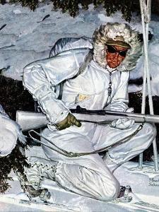 """Ski Patrol Soldier,"" March 27, 1943 by Mead Schaeffer"