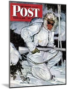 """""""Ski Patrol Soldier,"""" Saturday Evening Post Cover, March 27, 1943 by Mead Schaeffer"""