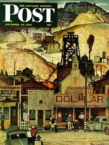 """The Silver Dollar,"" Saturday Evening Post Cover, November 10, 1945 by Mead Schaeffer"