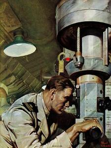 """""""Up Periscope!,"""" April 22, 1944 by Mead Schaeffer"""