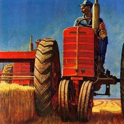 """Wheat Harvest"", August 12, 1950 by Mead Schaeffer"