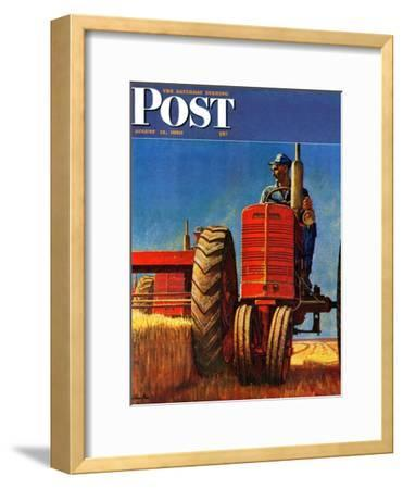 """Wheat Harvest"" Saturday Evening Post Cover, August 12, 1950"