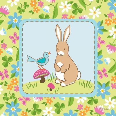 Meadow Bunny II-Betz White-Art Print