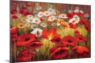 Meadow Poppies II-Lucas Santini-Mounted Print