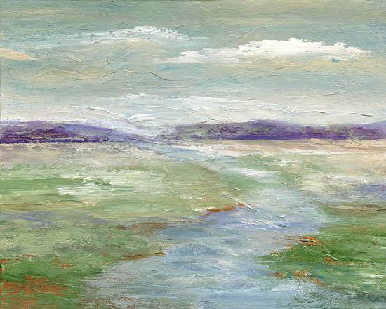 Meadow Stream I--Art Print