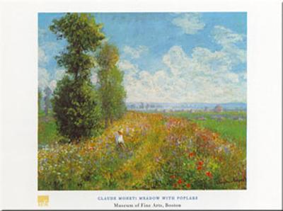 Meadow With Poplars-Claude Monet-Art Print