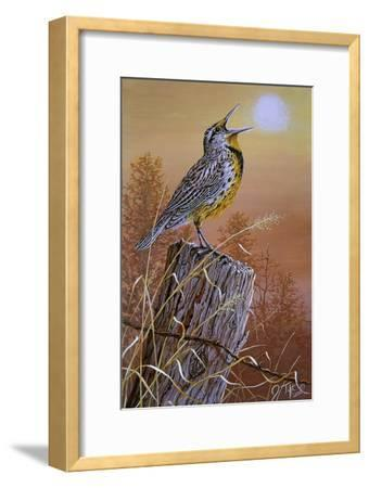 Meadowlark Painting-Jeff Tift-Framed Giclee Print